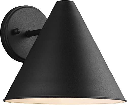 high quality Sea high quality Gull online sale Lighting 8538501-12 Crittenden One Outdoor Wall Lantern Outside Lighting, Black Finish online