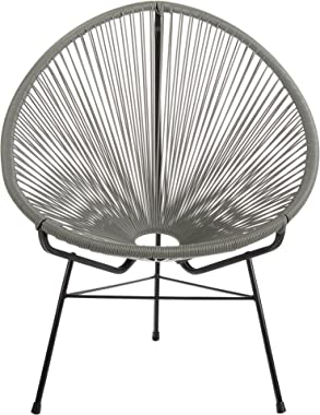 Joseph Allen Home PV-ML-Gry Acapulco Lounge Chair, Large, Grey