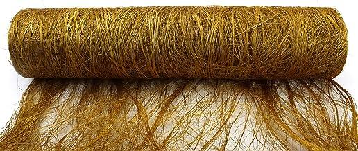 Kel-Toy Abaca Fabric Roll, 19-Inch by 10-Yard, Gold