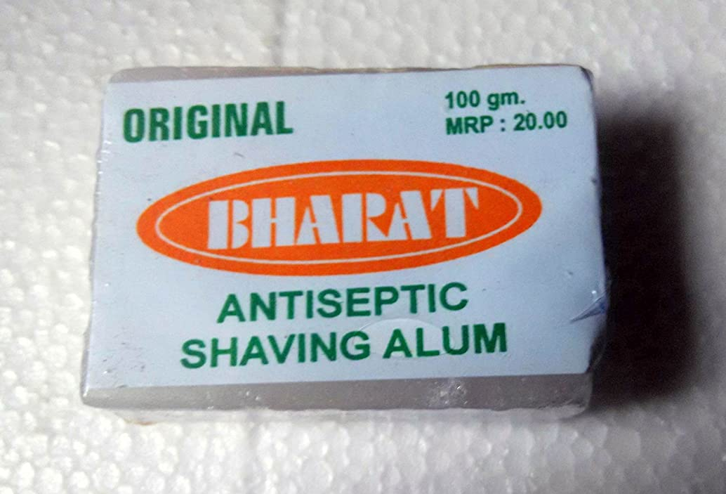 北ライブスライムOriginal Bharat Shaving Alum Stone Astrigent Antiseptic Block 100 Gms - India