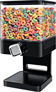 Zevro KCH-06127 Compact Dry Food Dispenser, Single Control, Black/Chrome