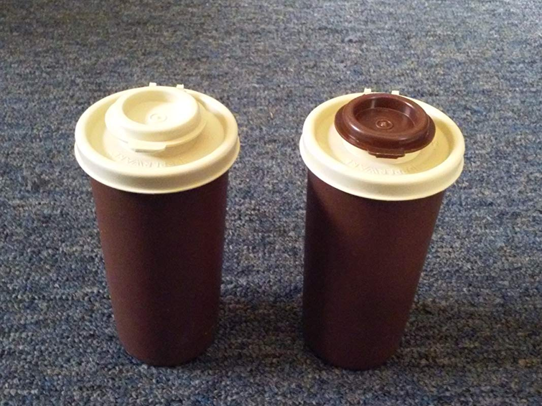 Vintage Brown Almond Tupperware Salt And Pepper Shakers