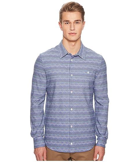 Missoni Jersey Denim Zigzag Button Up Shirt