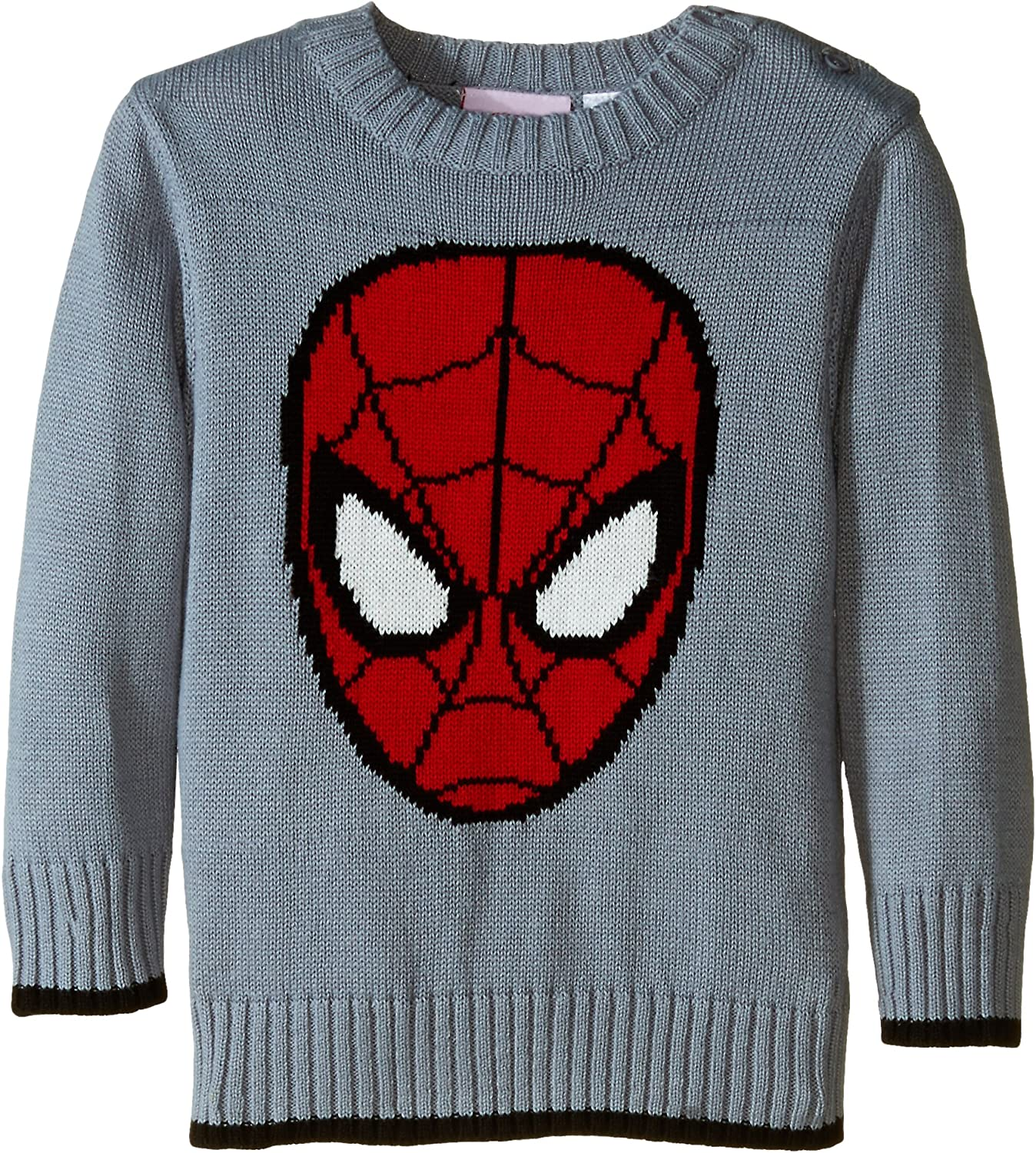 Marvel Spider-Man Face  Knit Christmas Holiday Sweater Boys  US Size 9//10