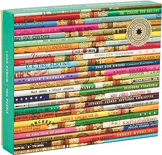 Mudpuppy Phat Dog Vintage Pencils 1000 Piece Foil Stamped Puzzle