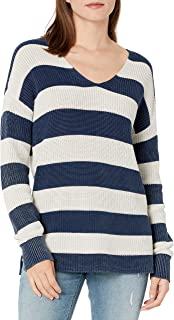 Amazon Brand - Goodthreads Women's Mineral Wash Ribbed Boyfriend V-Neck Sweater
