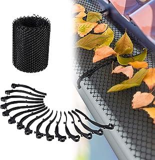 comprar comparacion Relaxdays, Negro, 15 cm de Ancho Protector Canalones, Malla de 6 Metros, Plástico, Jardinería