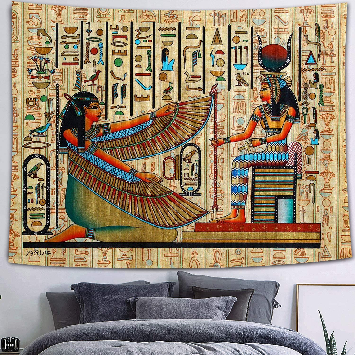 FEASRT Egyptian Selling Gods Tapestry Ancient Hieroglyphic 70% OFF Outlet Wall