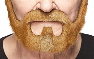 Mustaches Self Adhesive, Novelty, On Bail Fake Beard, False Facial Hair, Costume Accessory for Adults, Ginger Color