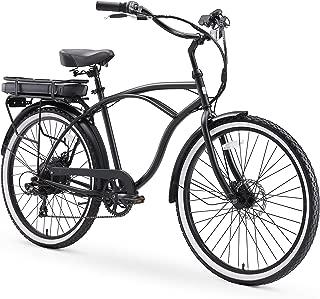sixthreezero Around The Block Men's Beach Cruiser Bicycle or Electric Bike, 24-Inch and 26-Inch