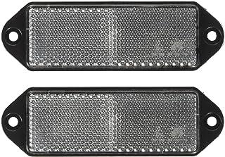 rotondi Catarifrangente per rimorchio e roulotte 60 mm colore: rosso- bordo e retro nero foro centrale