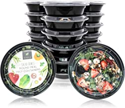 Juvale 20-Pack Disposable Meal Prep Bento Lunch Box Containers Set, BPA Free, Microwave Safe, 22 Ounces