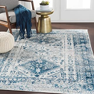 Evry Blue Light Gray Vintage Heriz Area Rug - 5'3