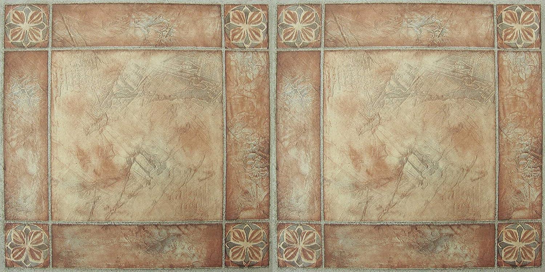 20-Pack Achim Home Furnishings FTVMA44620 Nexus 12X12-Inch Vinyl Tile 1 Pack Spanish Rose