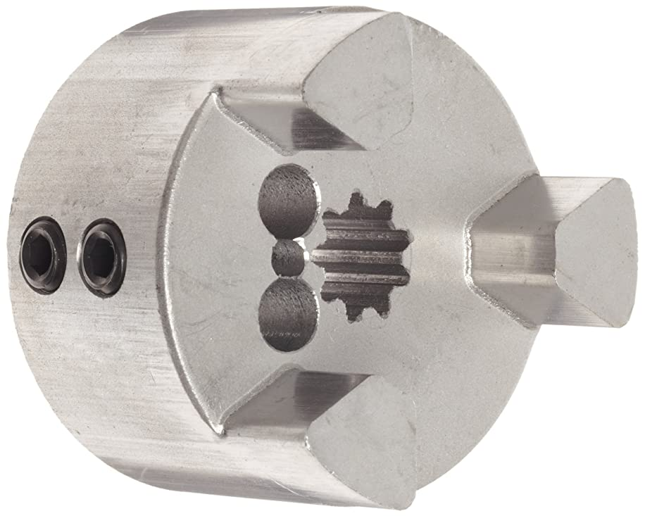 Lovejoy 37906 Size L100 Jaw Coupling Hub, Sintered Iron, Inch, 13T Spline Bore, 16/32 DP with L-Loc, 2.54