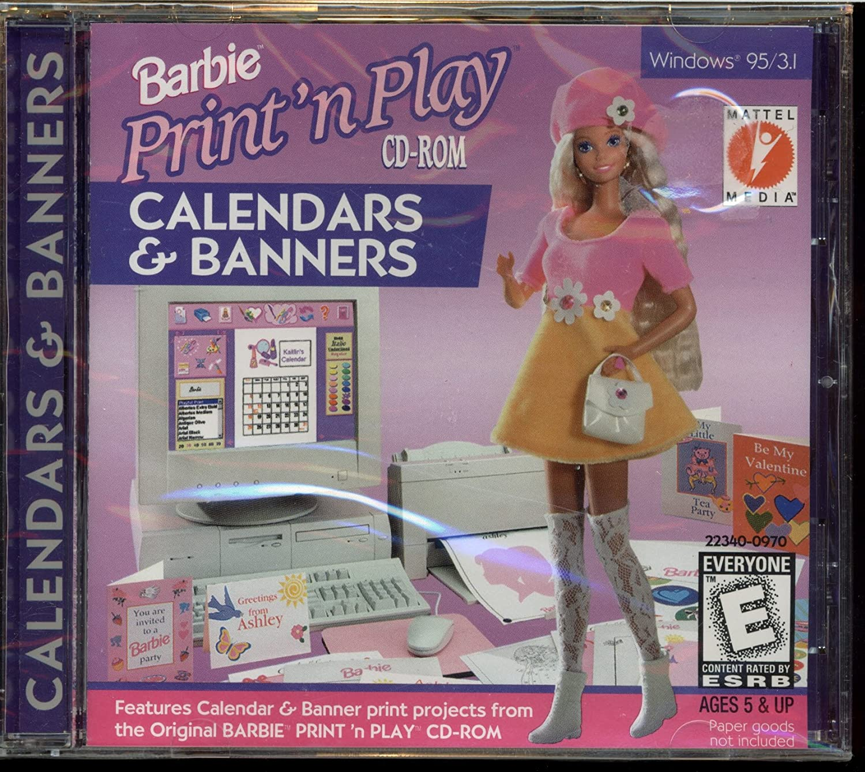 Genuine Barbie Print Max 57% OFF 'n Play Calendars Banners