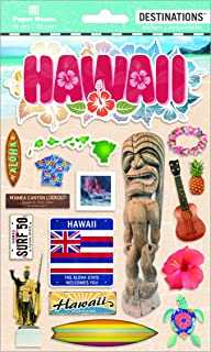 Paper House Productions Travel Hawaii 2D Stickers, 3-Pack