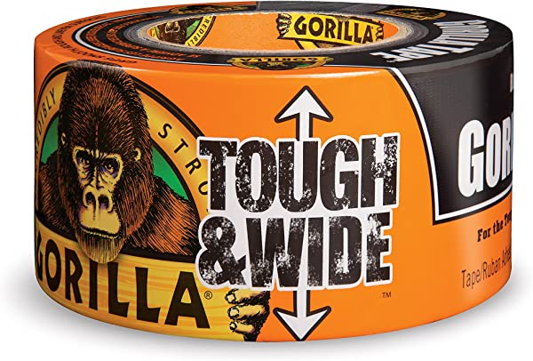 Gorilla Tape Black Tough Wide Duct Tape 2 88 X 30 Yd Black Pack Of 1