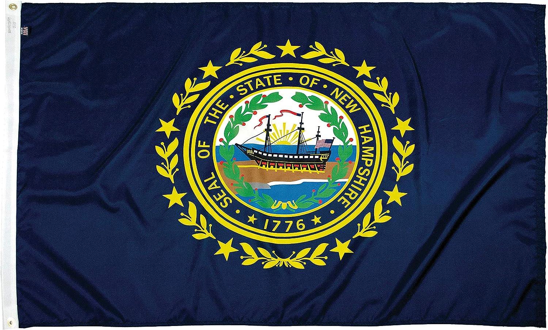 FlagSource New Hampshire Nylon 品質検査済 State 入手困難 Made in 4x6' USA Flag