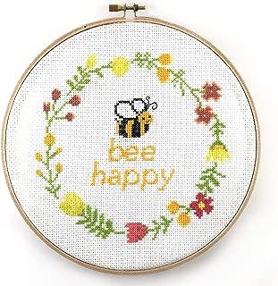 Bee Happy Cross Stitch Kit (Hoop)