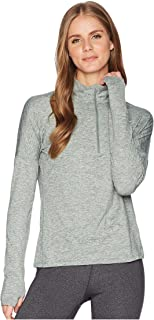 Women's Dry Element Running Top (Large, Green/Grey)