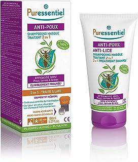 Puressentiel Anti-Lice Treatment Shampoo 150 ml + comb - Head lice Treatment Shampoo, 100% natural origin, proven efficacy...