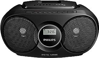 Philips AZ215B/05 sistema de audio para el hogar Negro 3 W - Microcadena (Negro, Parte superior, 3 W, FM, 3,5 mm, CD,CD-R,...