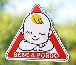 Pegatina Vinilo Bebe a Bordo, Sleepy Baby on Board (18cm x 16cm)