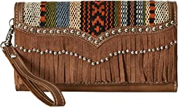 M&F Western - Saddle Blanket Fringe Wristlet Wallet