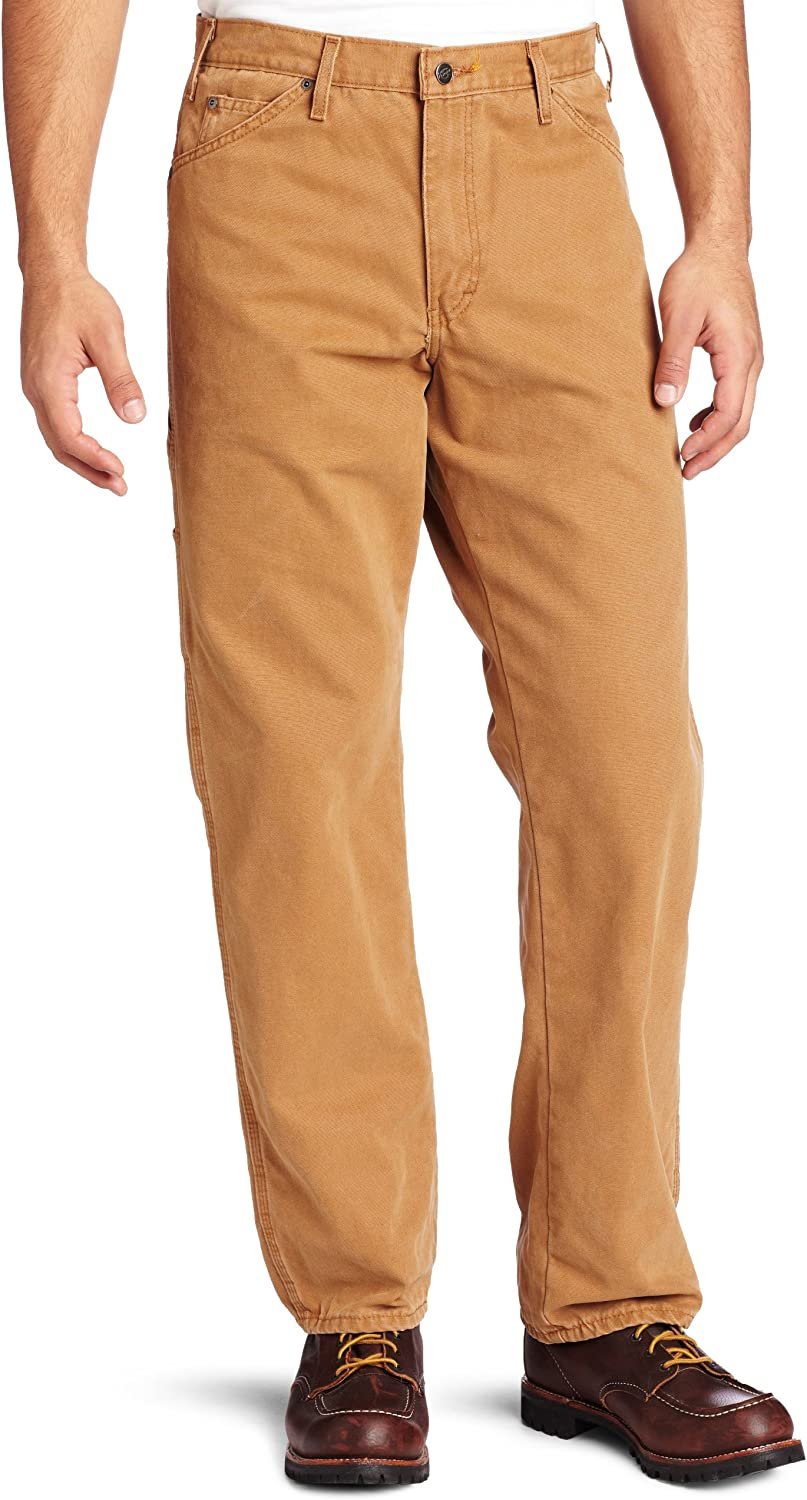 Dickies Men's Relaxed Fit Sanded Duck Carpenter Jean