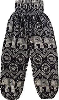 Love Quality Black Circle Elephant Pants One Size