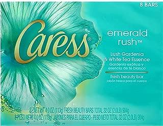 Caress Emerald Rush Beauty Bar Lush Gardenia and White Tea Essence (8 bars)