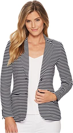 LAUREN Ralph Lauren Striped Knit Cotton Jacket