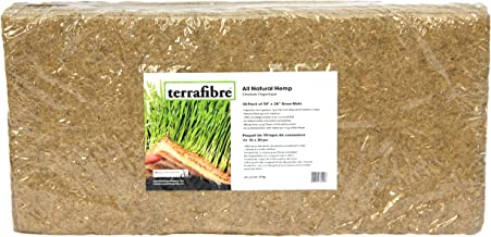 "Terrafibre Hemp Grow Mat - Perfect for Microgreens, Wheatgrass, Sprouts - 10 Pack 10"" x 20"" (Fits Standard 10"" X 20"" Germination Tray) - Environmentally Friendly, Fully Biodegradable"