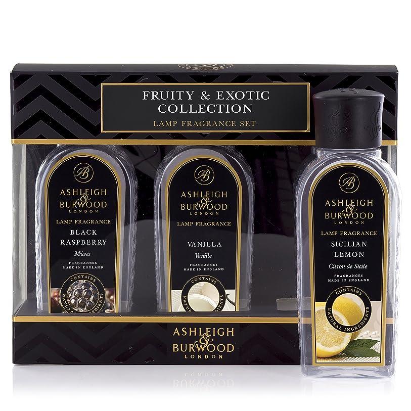 ブレースチョークシマウマAshleigh&Burwood ランプフレグランス フルーティー&エキゾチック3本セット Lamp Fragrances Fruity&Exotic アシュレイ&バーウッド