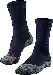 FALKE Trekkingsocken TK2 Wolle Damen schwarz blau viele weitere Farben Dicke verstärkte Wandersocken ohne Muster mit mittelstarker Polsterung lang und warm zum Wandern 1 Paar