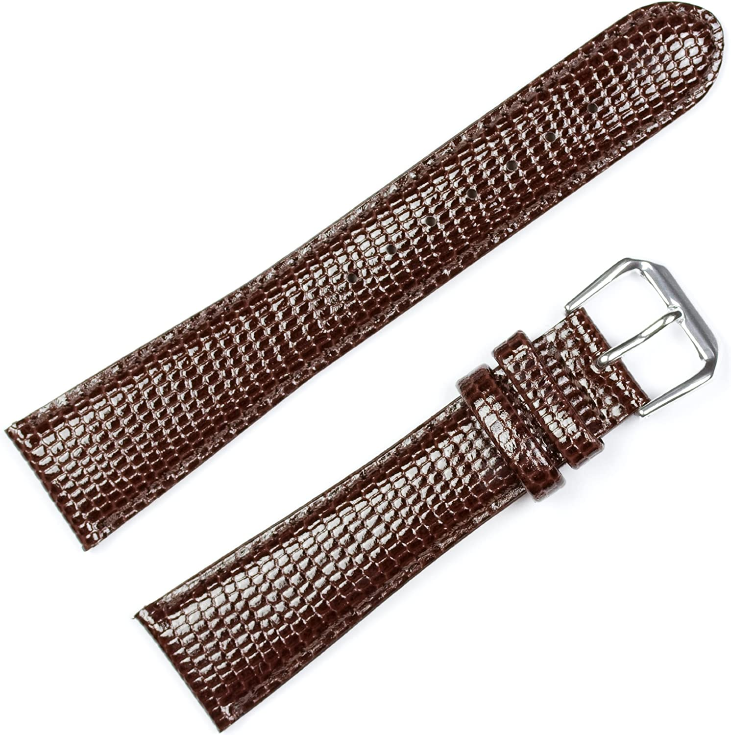 Lizard Grain Leather Sale item Watch Band - depot of Choice Color Black Brow
