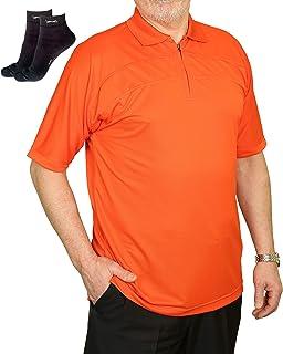 Abetteric Mens Short-Sleeve Slim Fit T-Shirt Pocket Quick Dry Pique Polo