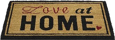 HMT 14730045 Tappeto di Cocco con Il Messaggio di Amore in Inglese a casa, 75 x 45 x 5 cm