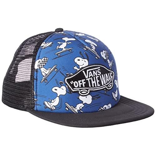 4d8910661e8 Vans Peanuts True Navy Classic Patch Trucker Plus Snapback Cap