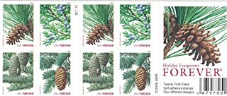 Holiday Evergreen FOREVER Stamps, Pane of 20