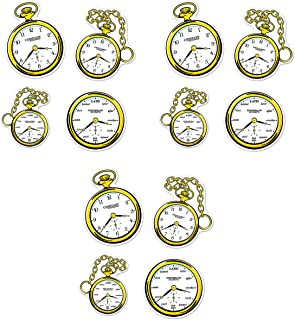 Beistle 59918, 12 Piece Clock Cutouts, 10