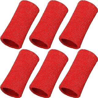 WILLBOND 6 Inch Wrist Sweatband Sport Wristbands Elastic Athletic Cotton Wrist Bands for Sports