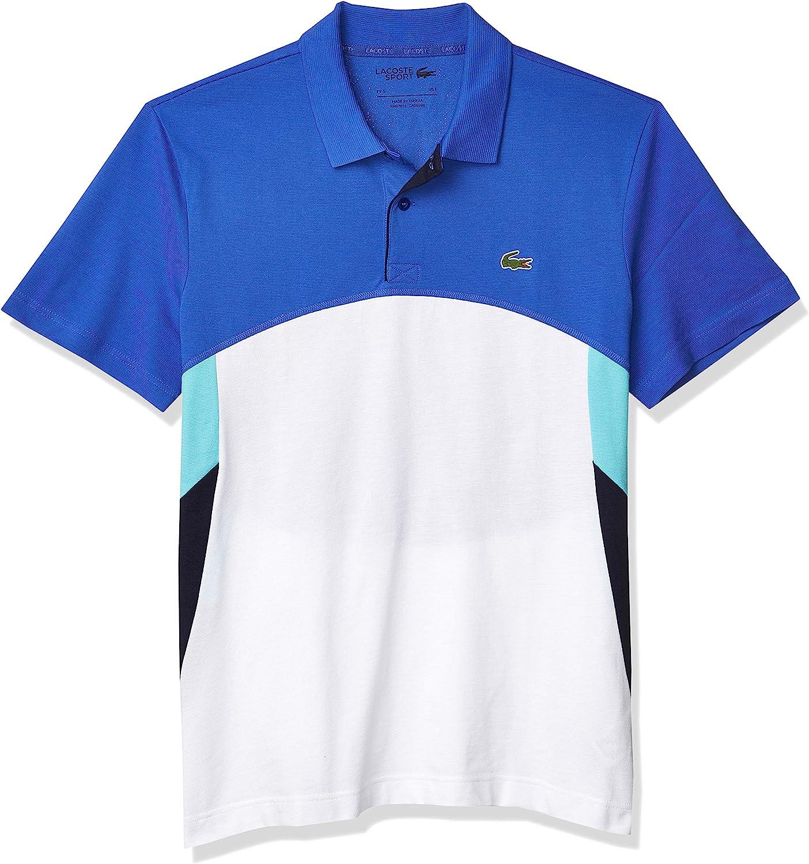 Lacoste Men's Sport Short Sleeve Tennis Colorblock Graphic Polo Shirt
