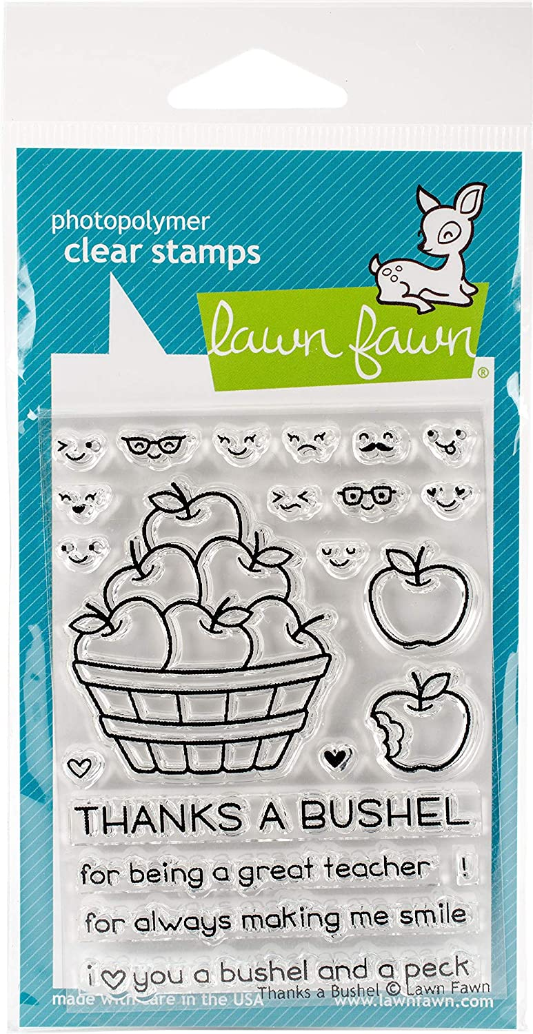 Lawn Long-awaited Fresno Mall Fawn Clear Stamps - Thanks A Bushel LF1208