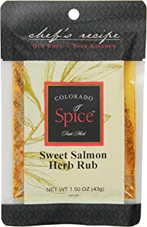 Colorado Spice Company, Seafood Spice, Sweet Salmon & Herb Rub, 1.5-Ounce Packet (Pack of 12)