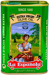 La Española Extra Virgin Olive Oil, 24 fl oz, 100% Extra Virgin Olive Oil, First Cold Pressed from Extra Virgin Olives, Best Olive Oil from Spain in Beautiful Tin