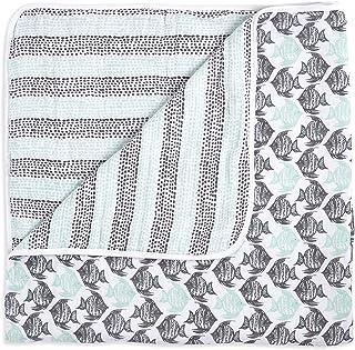 aden + anais White Label Dream Blanket | Boutique Muslin Baby Blankets for Girls & Boys | Ideal Newborn Nursery & Crib Bedding | Plush Toddler & Infant Blankets | Shower & Registry Gift Items,Seaside