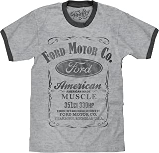 Ford Ringer Tee Shirt - American Made Muscle Ford Logo Shirt