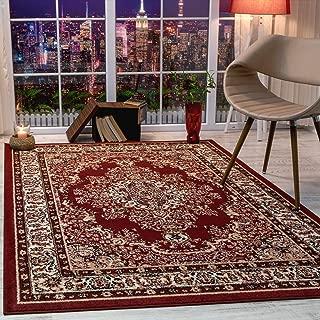 Antep Rugs Siesta Collection Traditional Oriental Polypropylene Indoor Area Rug (Maroon/Beige, 5' x 7')